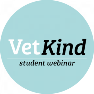 Image featuring the words VetKind student webinar
