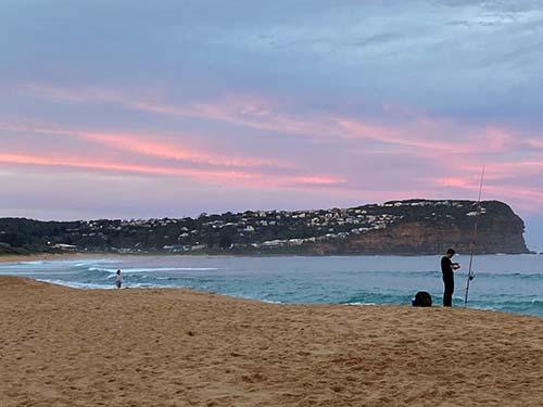 Jane Rose's photograph of sunset sea fishing